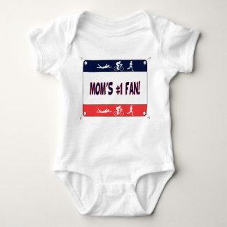 Triathlon Mom's #1 Fan Baby Bodysuit