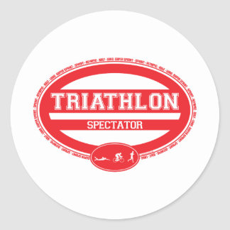 Triathlon Oval Classic Round Sticker