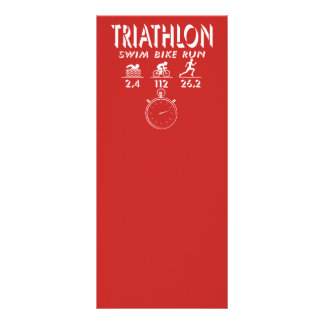 Triathlon Rack Card