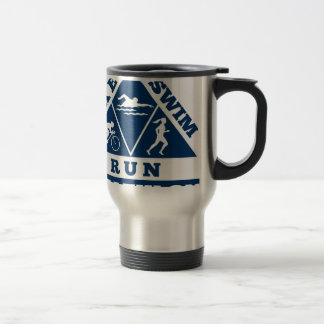triathlon run swim bike travel mug