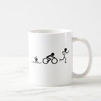 Triathlon Stick Figures Classic White Coffee Mug
