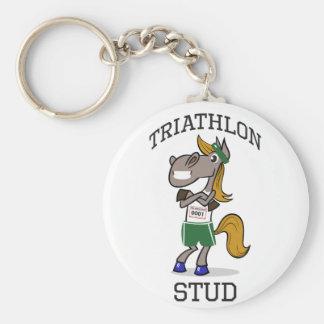 triathlon Stud Keychain