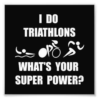 Triathlon Super Power Photograph