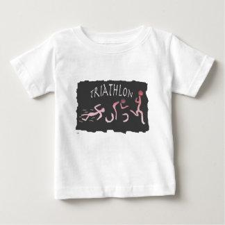 Triathlon Swim Bike Run Abstract in Black Baby T-Shirt