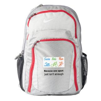 Triathlon swim bike run quote sports backpack