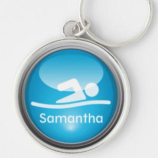 Triathlon SWIM Customized Keychain