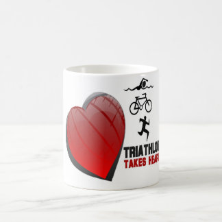 TRIATHLON TAKES HEART MUG