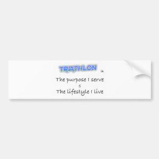 TRIATHLON - The purpose I serve Bumper Sticker