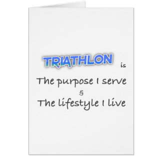TRIATHLON - The purpose I serve Card