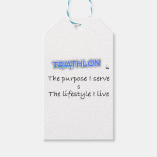 TRIATHLON - The purpose I serve Gift Tags