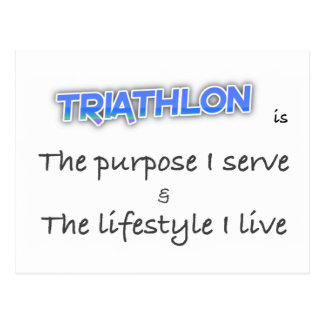 TRIATHLON - The purpose I serve Postcard
