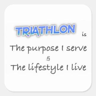 TRIATHLON - The purpose I serve Square Sticker