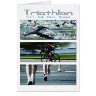 Triathlon - Train, Eat, Sleep, Repeat Card