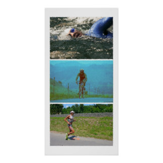 Triathlon Triptych - Painting Poster