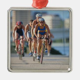 Triathloners Cycling 2 Metal Ornament