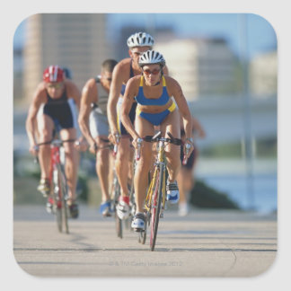 Triathloners Cycling 2 Square Sticker