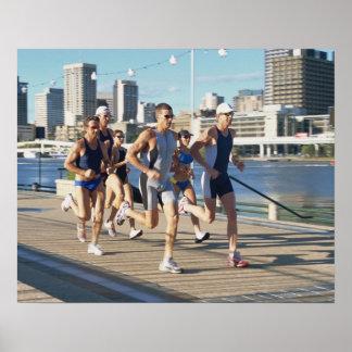 Triathloners Running 3 Poster