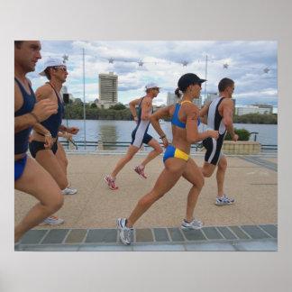 Triathloners Running 4 Poster