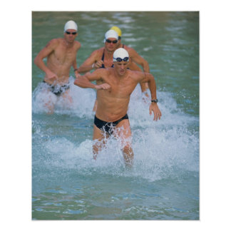 Triathloners Running out of Water 2 Poster