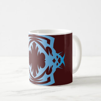 Tribal 16 blue over network coffee mug