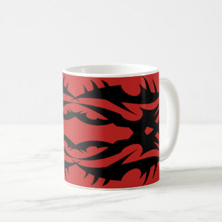 Tribal 17 black to over network coffee mug