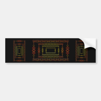 Tribal abstract. bumper sticker