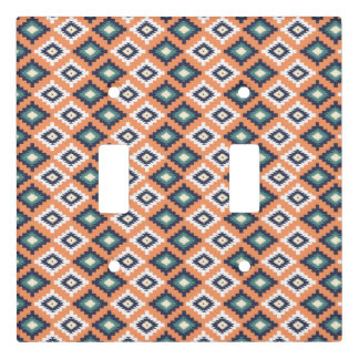 Tribal abstract pattern light switch cover