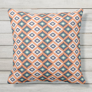 Tribal abstract pattern outdoor pillow
