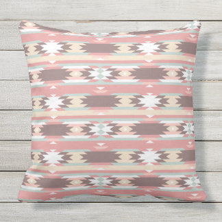 Tribal abstract pattern throw pillow