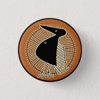 Tribal Africa bird  button mascot