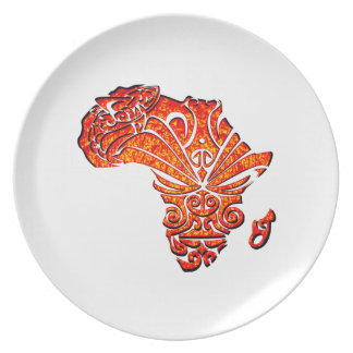 Tribal Africa Plate