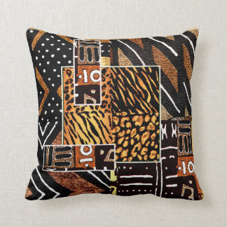 Tribal African Design Throw Pillow