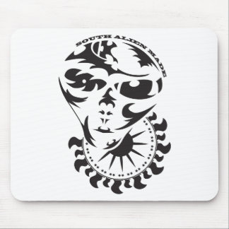 Tribal Alien with sun Mouse Pad