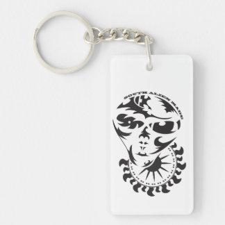 Tribal Alien with sun Single-Sided Rectangular Acrylic Keychain