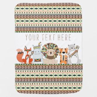 Tribal Animal Baby Baby Blanket
