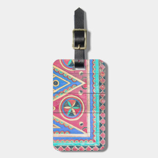 Tribal Arabian Najd Door Travel Bag Tag