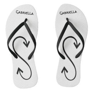 Tribal Arrow Art Personalized  Flip Flops