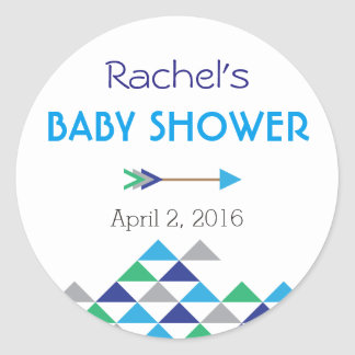 Tribal & Arrow Baby Boy Shower Sticker Labels