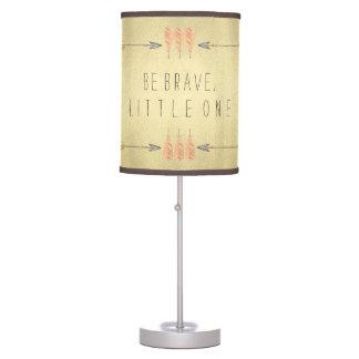 Tribal Arrow Be Brave Baby Boy Table Lamp