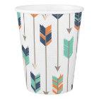 Tribal Arrow Blue Orange Green Paper Cups
