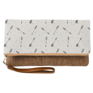 Tribal Arrow Boho Pattern Clutch