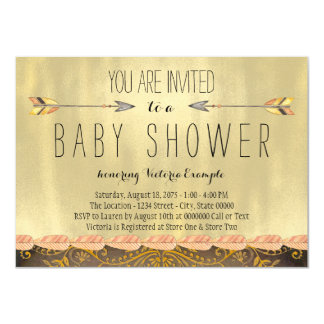 Tribal Arrow Boy Baby Shower Card