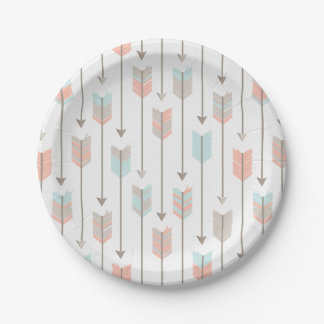 Tribal Arrows Pattern Paper Plate