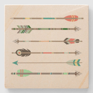 Tribal Arrows Stone Coaster