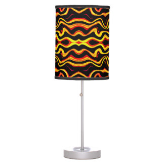 Tribal Art Abstract Pattern Table Lamp