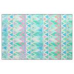 Tribal Aztec Chevron Light Pastel Teal Aqua Fabric