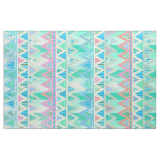 Tribal Aztec Chevron Light Pastel Teal Aqua Fabric