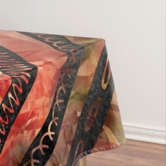 Tribal Aztec Gold and red glass pattern Tablecloth