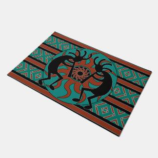 Tribal Aztec Kokopelli Southwest Design Doormat