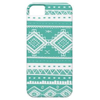 Tribal Aztec Lace Pattern (aquamarine) iPhone 5 Cases